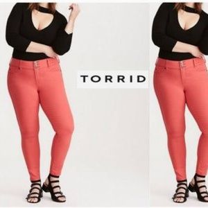 Torrid Plus Denim Red Skinny Jeans